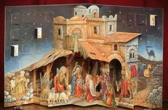 nativity advent calendar, religious